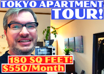 Living in Japan in a small $550/month apartment